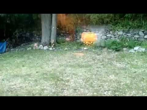 Crazy hail, Newton MA, Aug 4 2015