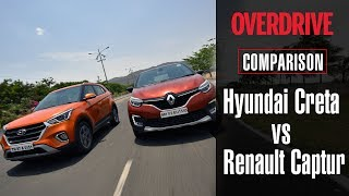 Hyundai Creta vs Renault Captur | Comparative Review | OVERDRIVE