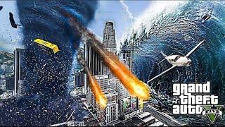 """GTA 5: СПАСАЕМ СЕМЬЮ ОТ МЕГА ЦУНАМИ И ТОРНАДО В ЛОС-САНТОС!! закос под """"реальная жизнь"""" в гта 5"""