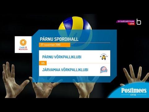 Pärnu Võrkpalliklubi vs Järvamaa Võrkpalliklubi - Credit24 Meistriliiga, 27.10.2016