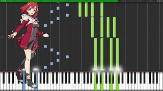 "[Shuumatsu no Izetta OP] ""Cross the Line"" - AKINO with bless4 (Synthesia Piano Tutorial)"