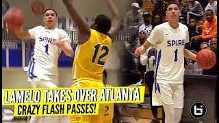 LaMelo Ball Goes CRAZY w/ The FLASHY PASSES & Shuts Down Trash Talkers!!! 1st Game In Atlanta!