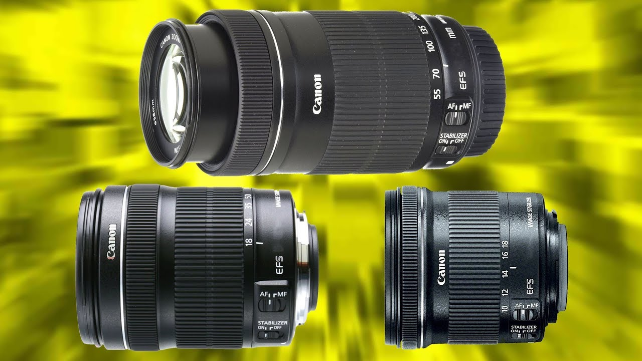 TOP 3 BEST VALUE Canon Zoom Lenses for Canon APS-C DLSR's