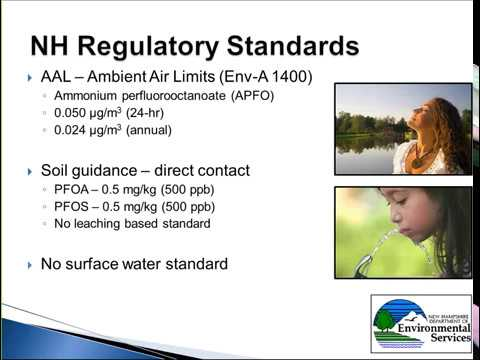 The Assessment and Regulation of PFASs in New Hampshire's Drinking Water