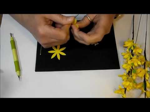 Paper Flower Forsythia Branches