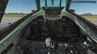 DCS World. Spitfire LF Mk.IX Обучение. Запуск Двигателя.