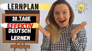 Deutsch zu Hause lernen mit einem effektiven Lernplan (2020)