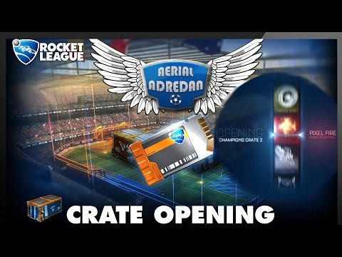 10 CRATES OPENING! | Rocket League Mystery Decal? | AdriMashup