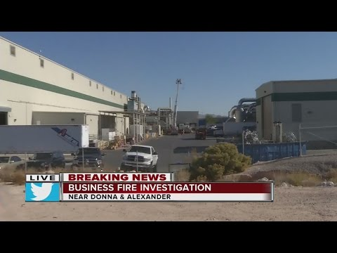 Two-alarm fire at Clearwater Paper in North Las Vegas