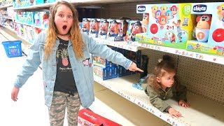 HIDE AND SEEK in Toys R US!! Ruby Rube and Bonnie