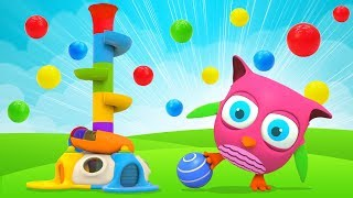 Learn Colors for Babies with a Ball Slide: Hop Hop the Owl & Baby Educational Toys
