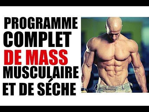 Programme GRATUIT de Musculation : Prise de Masse et Sèche (basique)