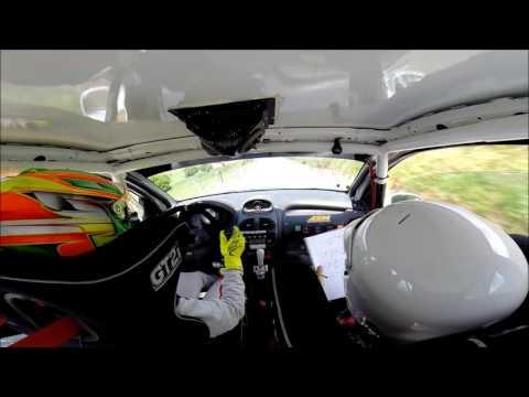 G Villanueva  M Noval Peugeot 206 xs  Rallysprint Virgen del Viso 2017