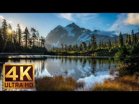 Mt. Baker - Artist Point, 4K Relaxation Video Nature Sounds Bird Songs - 1.5 hours