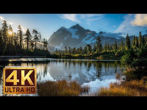 Mt. Baker - Artist Point, 4K Relaxation Video Nature Sounds Bird Songs - 1.5 hours