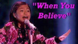 """[Eng-Vietsub] Celine Tam: cô bé người Hong Kong chinh phục bài hát khủng """"WHEN YOU BELIEVE"""" (Tứ Kết)"""