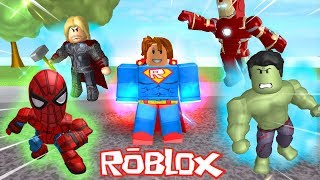 SUPER HERO TURNED on ROBLOX-ACADEMY of HEROES (SUPER POWER TRAINING)