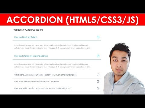 Build A FAQ Accordion Menu | How To Create FAQ Accordion Menu Tabs | HTML5, CSS3 & JQuery