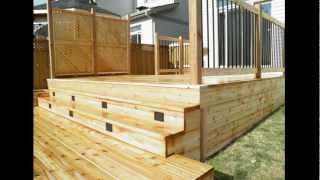 Cedar Deck Built In Ottawa. Www.diplomatconstruction.com