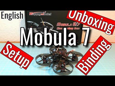 Happymodel Mobula7 / Mobula7 HD - Setup - Binding - Unboxing (in english)