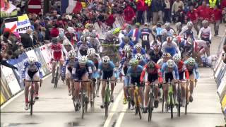 Big Crash at the start - Junior Men - 2014 Cyclo Cross World Championships