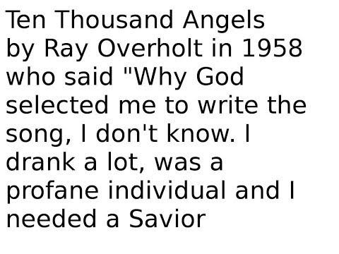 Ten Thousand Angels ( Hymn / Song )