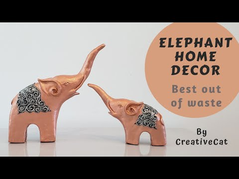 Elephant Home Decor/Best out of waste/Upcycling idea/art and