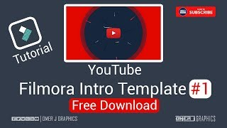 Wondershare Filmora Intro Template 01 | YouTube Intro Template |  OMER J GRAPHICS