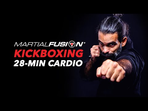 CARDIO Power KICKBOXING Workout. FAT BURN Exercise Fitness.