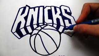 Como Desenhar a logo do New York Knicks [NBA] - (How to Draw New York Knicks) - SLAY DESENHOS #134
