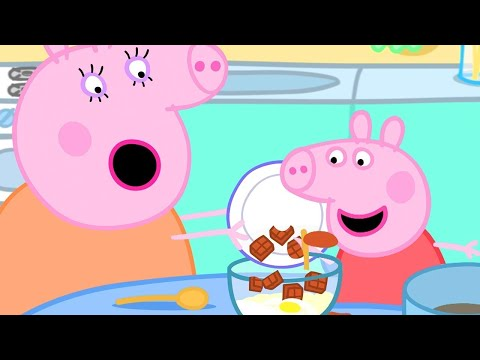 Peppa Pig Official Channel 🍫 Peppa Pig Makes Chocolate Cake Special