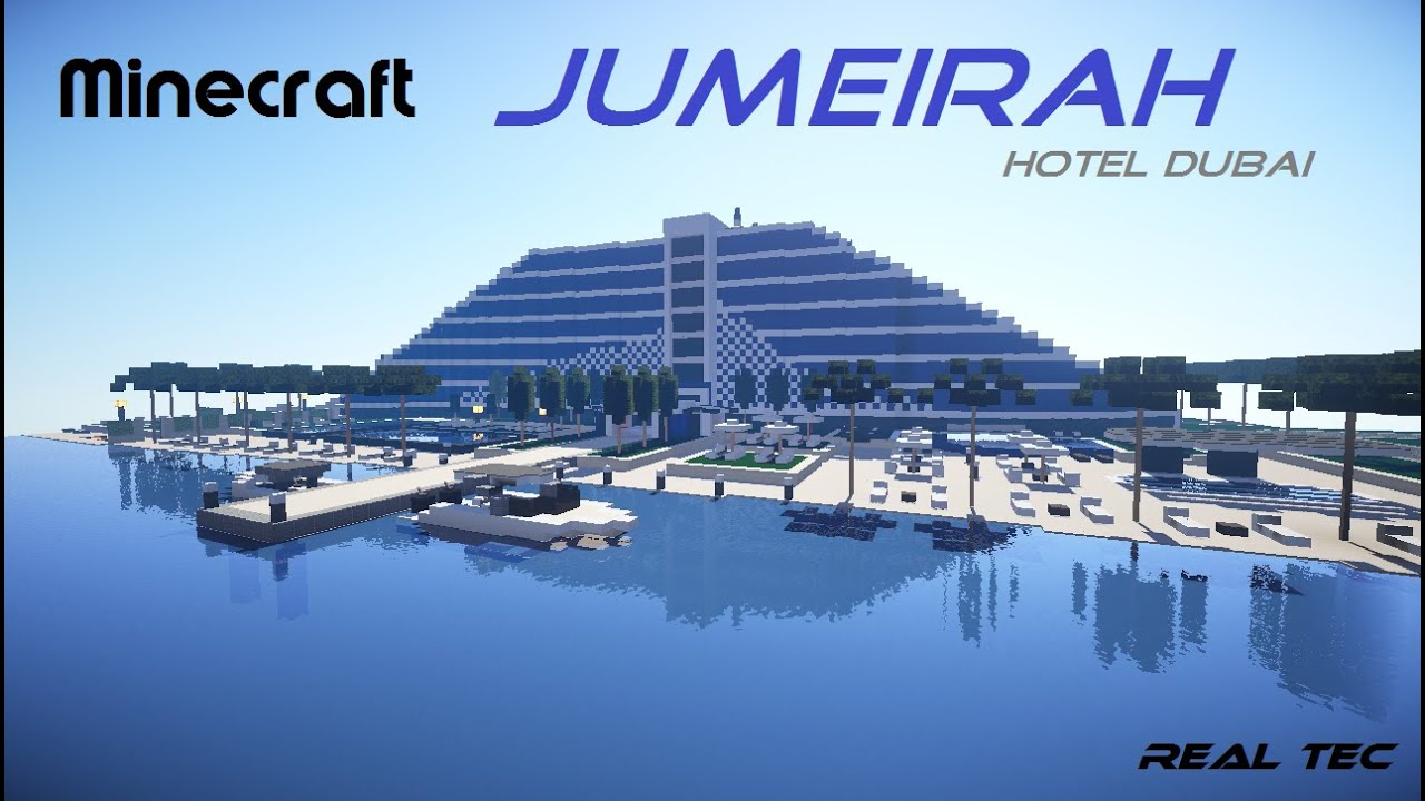 Minecraft Cinematic HD Jumeirah Hotel Dubai