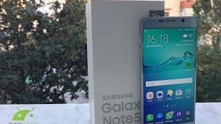 Samsung Galaxy Note 5 unboxing e prime impressioni da TuttoAndroid.net