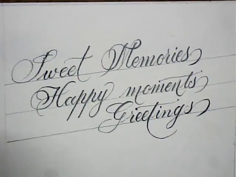 Beautiful Handwriting With Pencil
