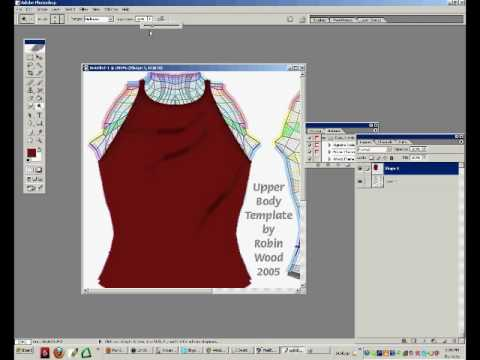 Second life clothing tutorial wrinkles shading and for Second life templates for gimp
