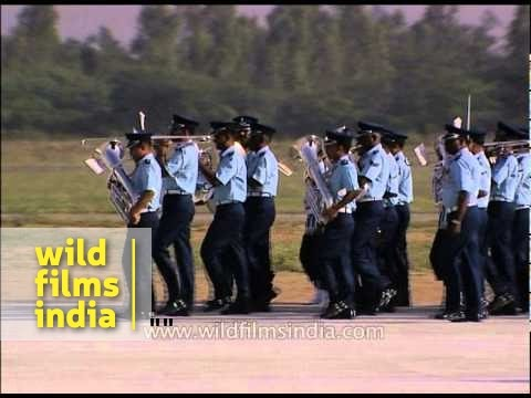 IAF officers march to the tunes of Air Force band