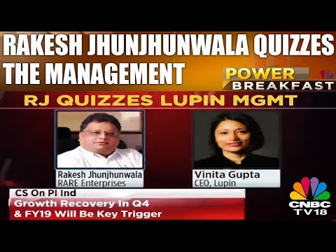 Lupin Q3 Earnings | Rakesh Jhunjhunwala Quizzes The Management | Power Breakfast | CNBC TV18