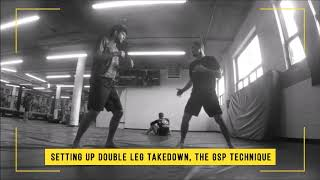 Setting Up the Double Leg Takedown, the GSP Technique | MMA Training Highlight Video