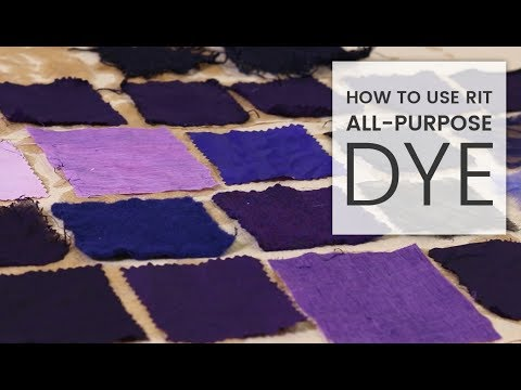 How to Dye Fabric: Rit All-Purpose Dye