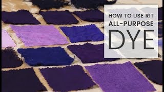how to dye fabric rit all purpose dye