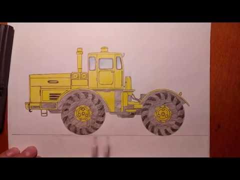 Как нарисовать трактор мтз 80