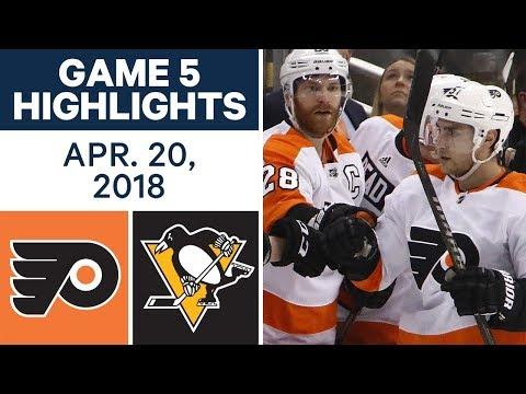 NHL Highlights | Flyers vs. Penguins, Game 5 - Apr. 20, 2018
