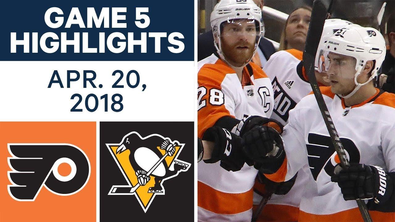nhl highlights flyers vs penguins game 5 apr 20 2018