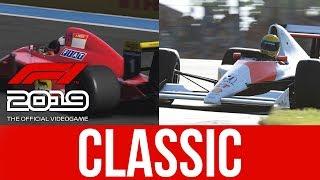 F1 2019 Classic Car Gameplay - Ferrari F1-90 & McLaren MP4/5B Alain Prost & Ayrton Senna