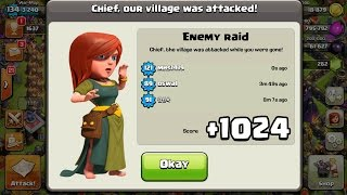 +1024 TROPHIES ON DEFENCE IN 12 HOURS! CLASH OF CLANS | FASTEST WAY TO GAIN TROPHIES TH10 275 Walls