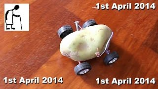 hey grandad can you make a potato powered car yes today only april fool