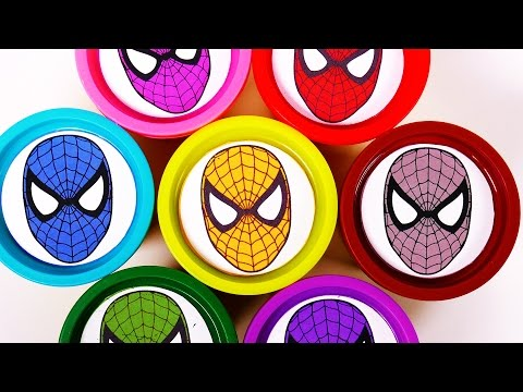 Thumbnail: Play Doh Spiderman Surprise Toys for Kids Learn Colors with Play Dough Eggs