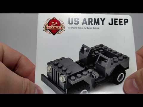 US ARMY Jeep Brickmania - YouTube