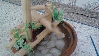 كيف تصنع نافورة منزلية  من القصب