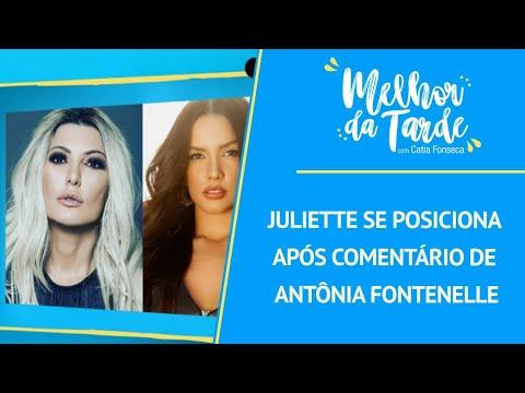 2021 - Juliette se posiciona após comentário de Antônia Fontenelle
